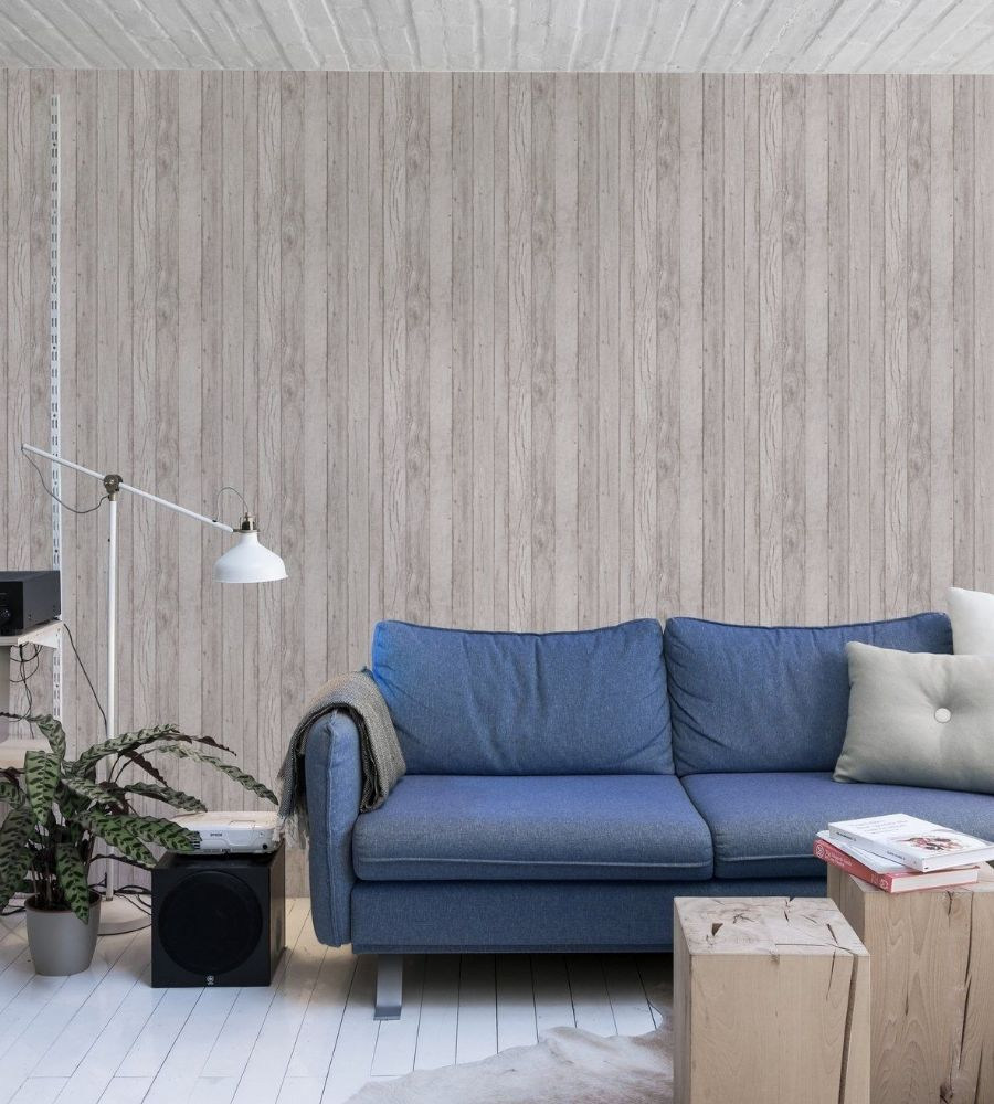 Grandeco Wood Panel A17401 Wallpaper